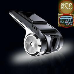 1080P 32G SD Card USB G-sensor ADAS Dash Cam Car DVR Driving