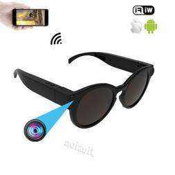 1080P HD Camcorder Wifi Smart Mini Camera Glasses Sunglasses