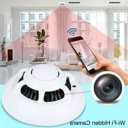 1080P HD WiFi Hidden Camera Smoke Detector Real-time Securit