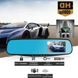 1080P Wide Angle Len Car 4.3'' Auto DVR Mirror Dash Cam Driv