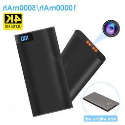 1080P WIFI Hidden Smart Camera 4K Cam Power Bank Hidden DVR