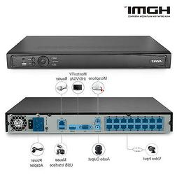 ANNKE 16CH 4K 8MP NVR POE IP Network Video Recorder Surveill