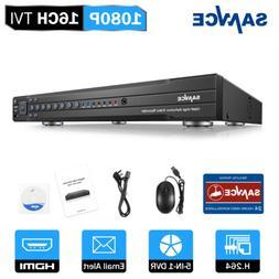 SANNCE 16CH 8CH 4CH 5in1 1080P 2MP DVR Video Recorder Home S