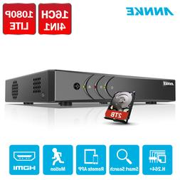 ANNKE 16CH H.264+ 1080P Video Recorder Security DVR Smart Pl