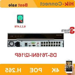 Hikvision 16CH DS-7616NI-I2/16P 16POE Ports H.265 P2P Networ