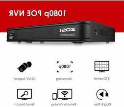 ZOSI POE ONVIF HDMI 1080p NVR CCTV motion detection Security