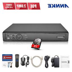 ANNKE 1TB 4CH HD 6MP H.264 Seucrity POE NVR Smart Search Net
