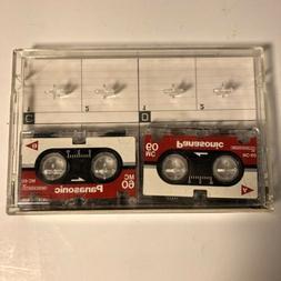 2 Panasonic MC-60 Micro Cassette Tape For Answer Machine Dic