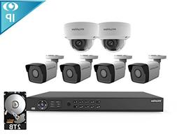 2MP IP Security Camera System, Laview 8 Channel Video NVR Re