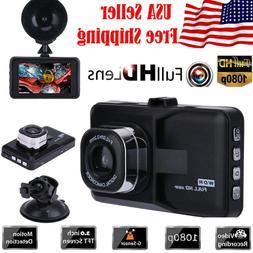 "3.0"" Vehicle 1080P Car Dashboard DVR Camera Video Recorder D"