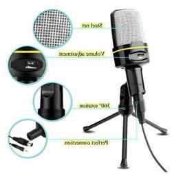 3.5mm Condenser Microphone Set Tripod Studio Recording Podca