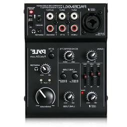 Pyle 3-Channel USB Audio/Sound Mixer Recording Interface, Re