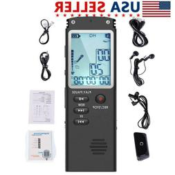 32G 8G Rechargeable Digital Voice Recorder Dictaphone Audio