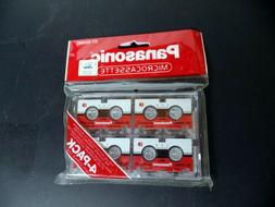 4 Panasonic MC-60 Micro Cassette Tape For Answer Machine Dic