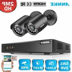 ANNKE 4CH 1080P Lite DVR 2x 2MP CCTV Home Security Camera Sy