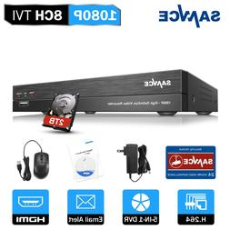 SANNCE 8CH 5IN1 1080P 2MP DVR Digital Video Recorder Home CC