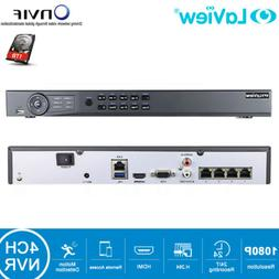 4CH 6MP NVR Network Video Recorder w/1TB HDD Support Hikvisi