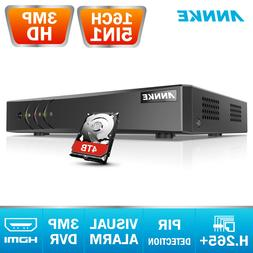 ANNKE 4CH 8CH 16CH 5in1 3MP CCTV H.265+ Video Recorder Secur