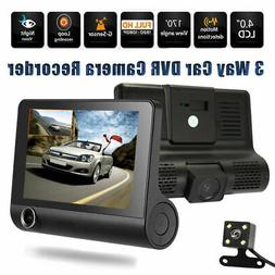 4in 3 Way Car DVR Camera Video Driving Recorder Rear View Au