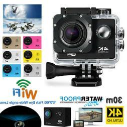4K 1080P WiFi Helmet Cam Action Camera Sports Camcorder Vide