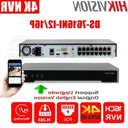 Hikvision 4K 16CH DS-7616NI-I2/16P 12MP 16PoE NVR H.265 Netw