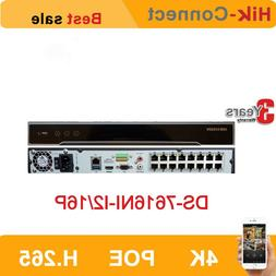 Hikvision 4K 16CH DS-7616NI-I2/16P 16POE Ports H.265 P2P Net