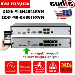 Dahua 4K 4/8CH POE 8MP H.265 HDD HDMI CCTV NVR Network Video