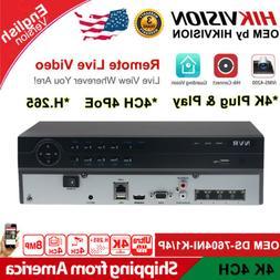 HIKVISION 4K 4CH POE OEM DS-7604NI-K1/4P H.265+ NVR CCTV Net