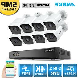 ANNKE 4K 8MP 8CH 5in1 TVI DVR 8x 5MP IR Outdoor IP67 Home Se