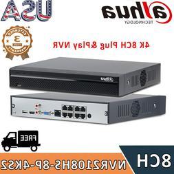 Dahua 4K 8MP 8CH NVR2108HS-8P-4KS2 H.265 Network Video Recor