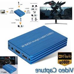 4K HDMI to USB 3.0 Video Capture Card 1080P HD Video Recorde
