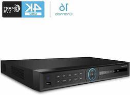 Amcrest 4K NV4216-AI 4K 16 CH Network Video Recorder Smart N