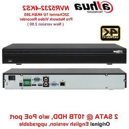 Dahua 4K NVR NVR5232-4KS2 32CH 1U 2 SATA Onvif Network Video