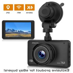 TOGUARD 4K WIFI GPS Car Dashboard DVR Camera Video Recorder
