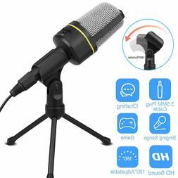 53.5mm Condenser Microphone Tripod Desktop Audio Recording F