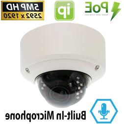 5MP 1920P Network Dome PoE IP Security Camera w/ Microphone
