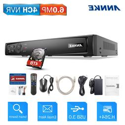 ANNKE 6MP NVR 4CH Network Video Recorder Smart Search HDMI C