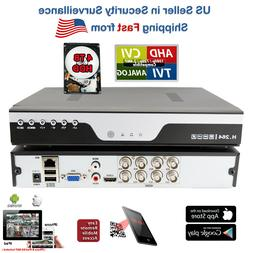 8 Ch Channel H.264 DVR Recorder with 4TB Hard Drive for Secu