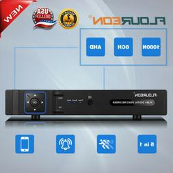FLOUREON 8 Channel 1080N AHD DVR NVR HD Security Camera CCTV
