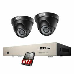 ZOSI 8 Channel Security Camera DVR System 2PCS 1080P Outdoor