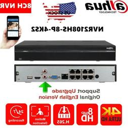 Dahua 8 Channel 8PoE 4K NVR2108HS-8P-4KS2 H.265 Network Vide