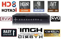 8 Channels HD Hybrid Security Recorder/NVR TVI/960H/IP/Cloud