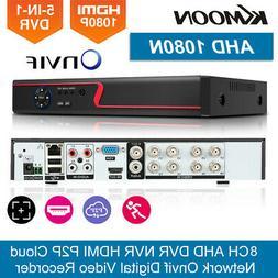 KKmoon 8CH 1080P 5IN1 H.265+ DVR CCTV Digital Video Recorder