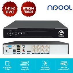 8CH 1080P HD-MI DVR NVR XVR Video Recorder 5-IN-1 ONVIF Secu