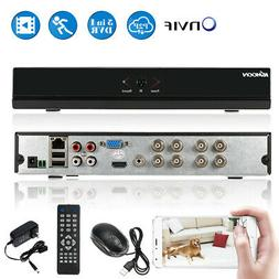 8Channel 1080P H.264 AHD CCTV DVR NVR 5In1 Video Recorder On
