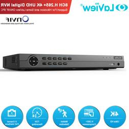 8CH 4K UHD H.265 NVR 8 PoE Compatible with Hikvision Cam Net