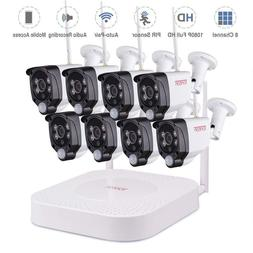 Tonton 8CH NVR 1080P Wireless Security Camera CCTV System wi