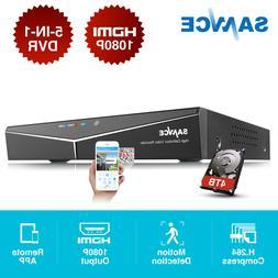 SANNCE 5in1 8CH 1080P HDMI DVR CCTV HD Video Recorder for Se