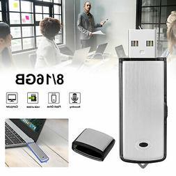 8GB/16GB Mini Voice Activated Digital Sound Audio Recorder D