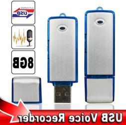 8GB Mini Digital Tape Recorder Audio Voice Recorder USB Flas
